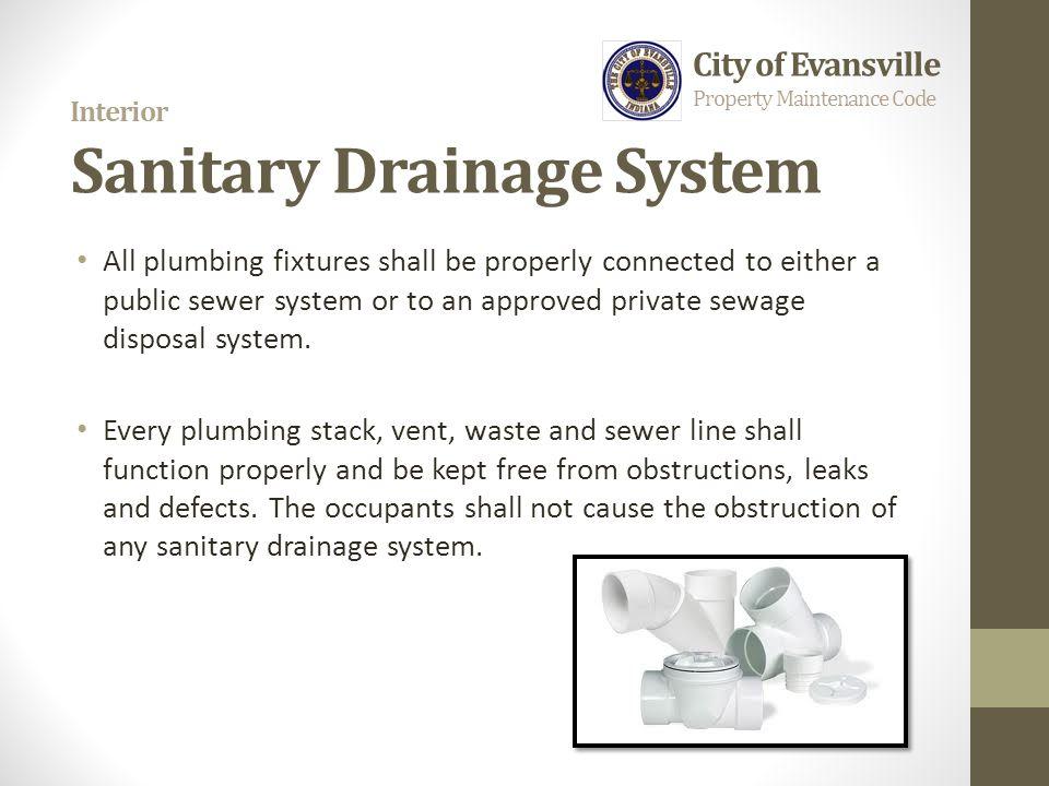 Interior Sanitary Drainage System