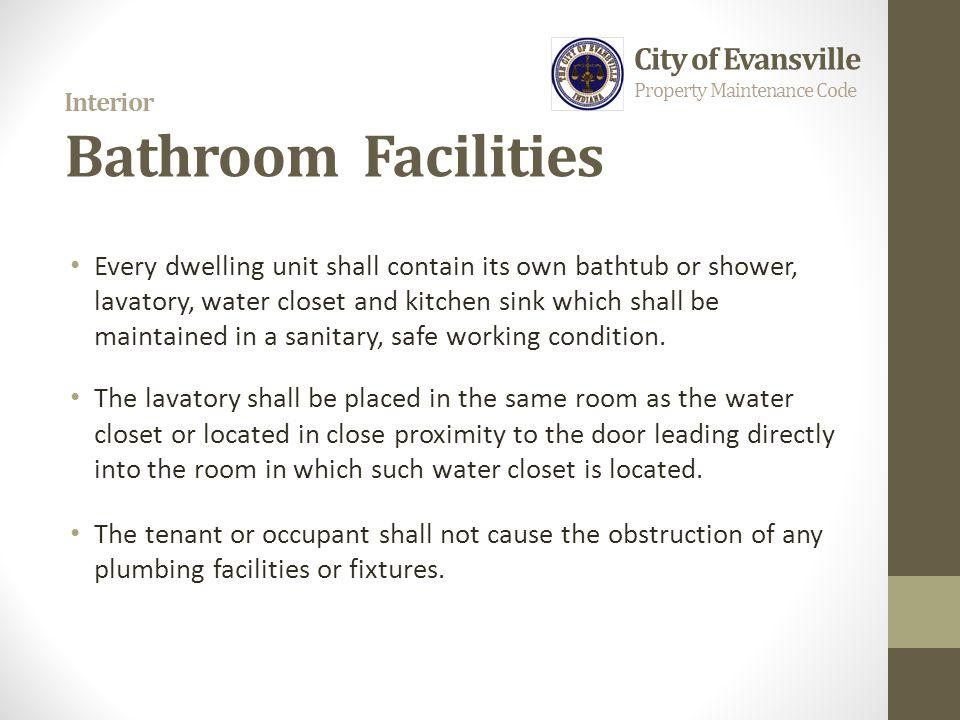 Interior Bathroom Facilities