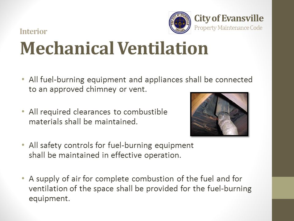 Interior Mechanical Ventilation