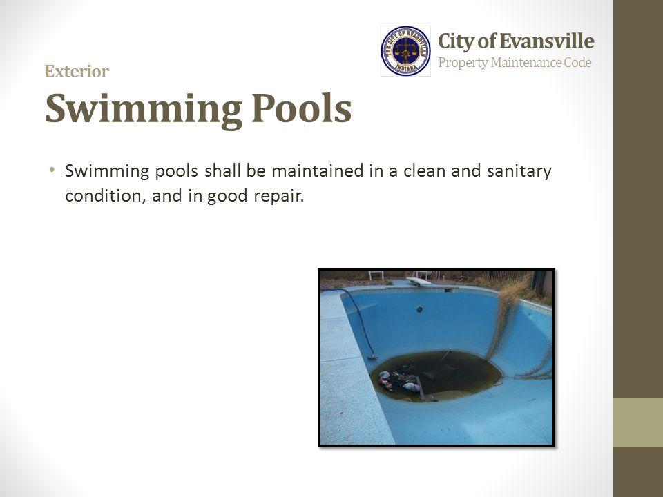 Exterior Swimming Pools