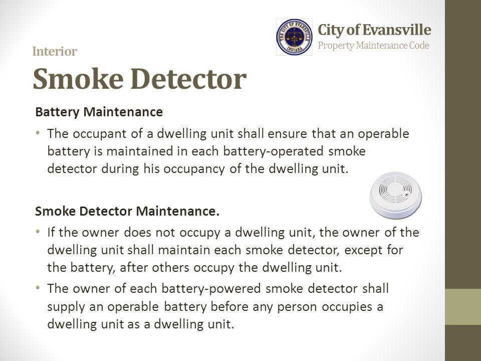 Interior Smoke Detector