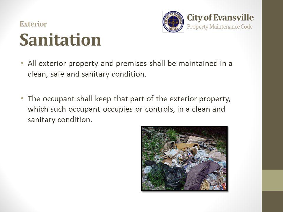 City of Evansville Exterior Sanitation