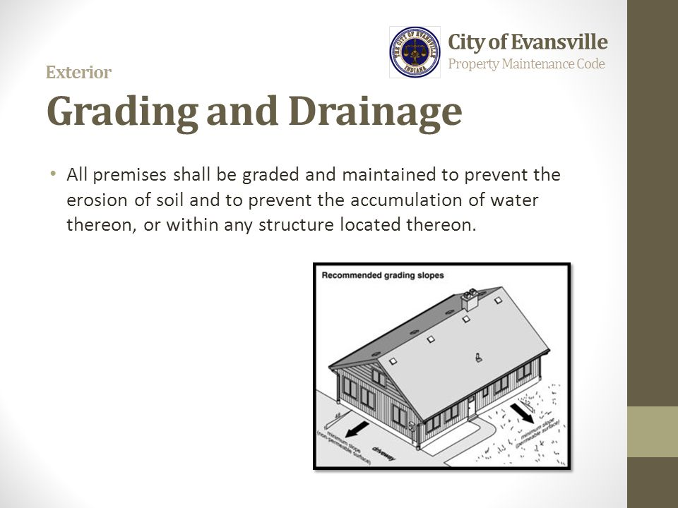 Exterior Grading and Drainage