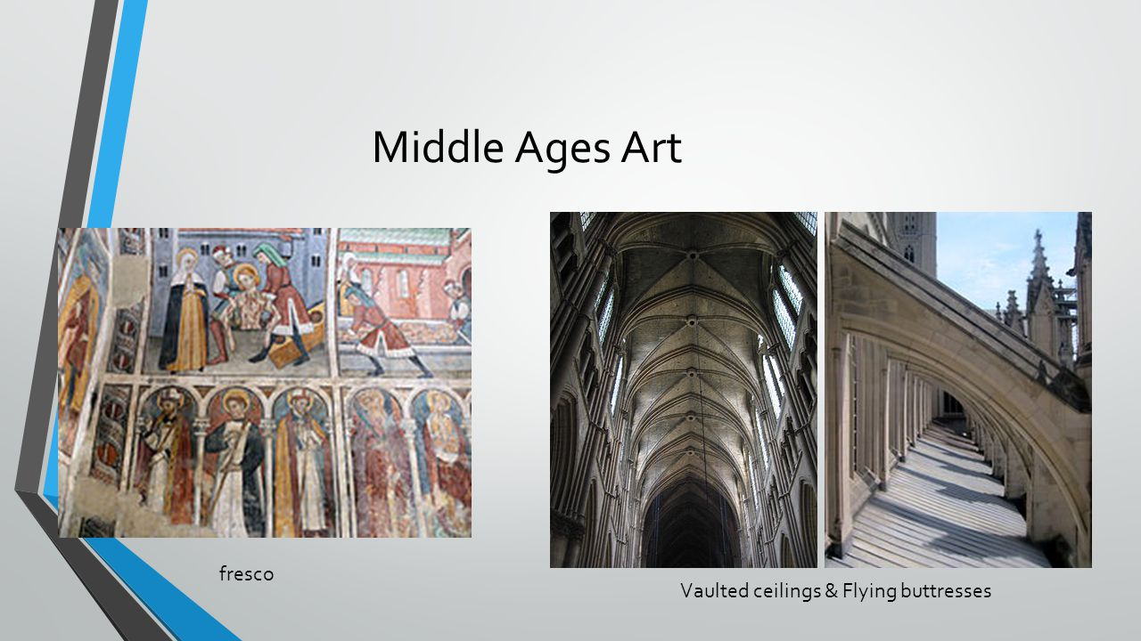 Middle Ages Art fresco Vaulted ceilings & Flying buttresses