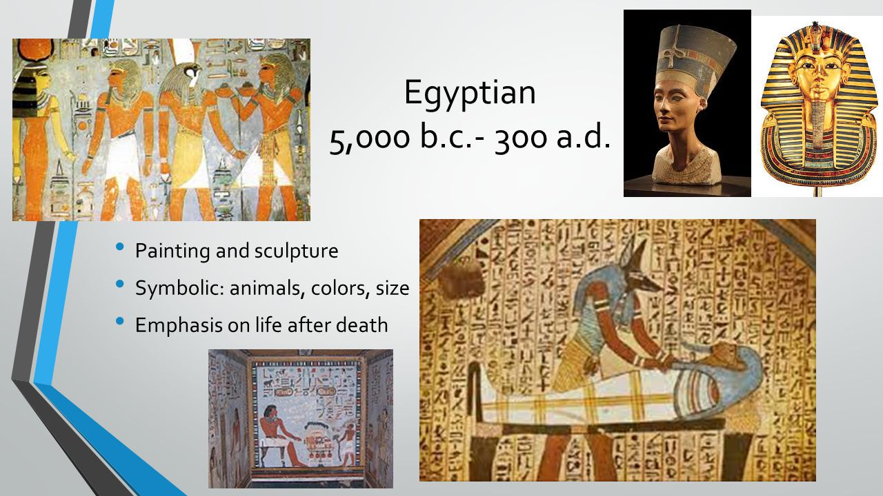 Egyptian 5,000 b.c.- 300 a.d. Painting and sculpture