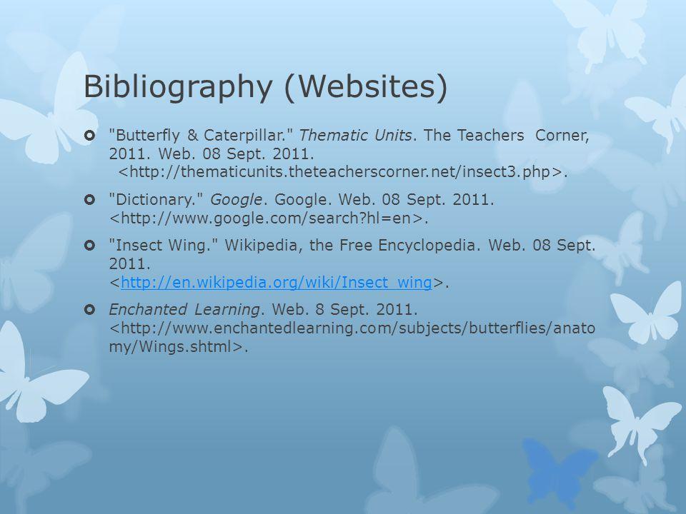 Bibliography (Websites)