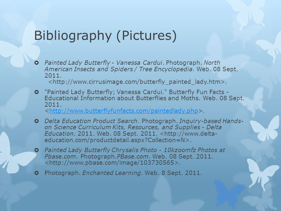 Bibliography (Pictures)