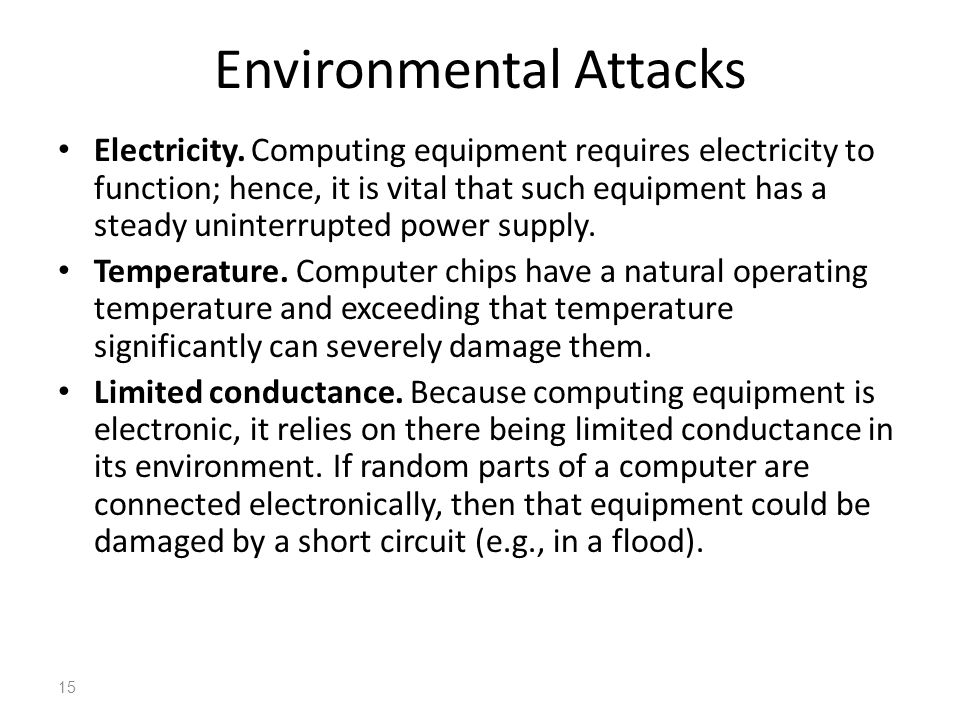 Environmental Attacks