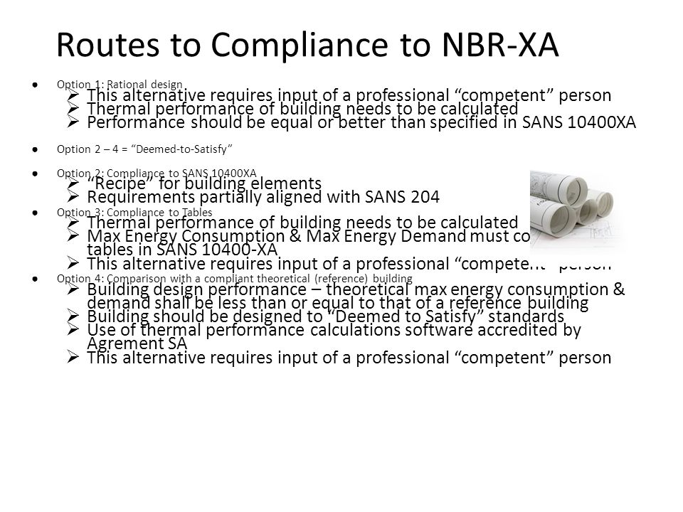 Routes to Compliance to NBR-XA