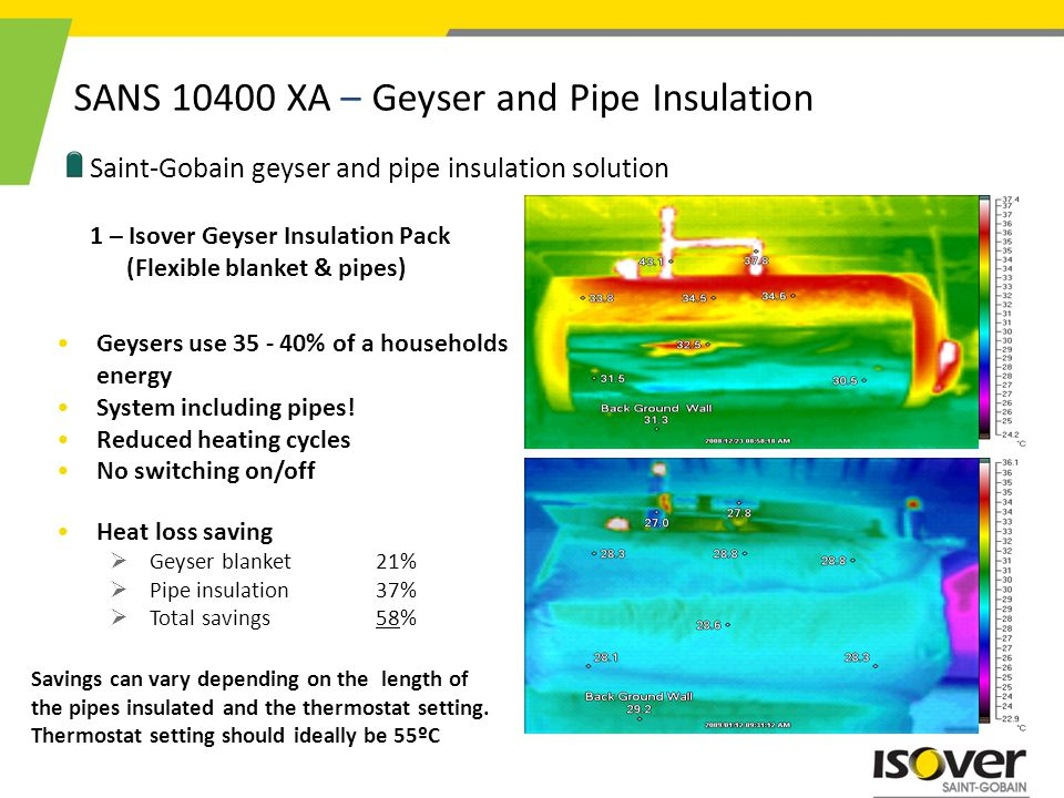 SANS 10400 XA – Geyser and Pipe Insulation