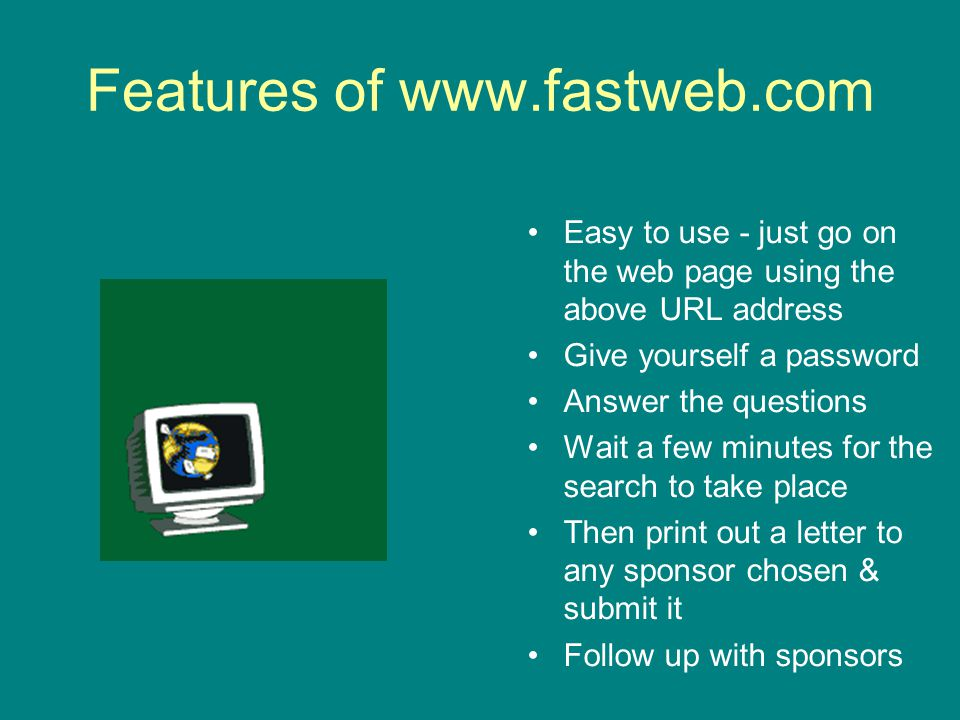 Features of www.fastweb.com