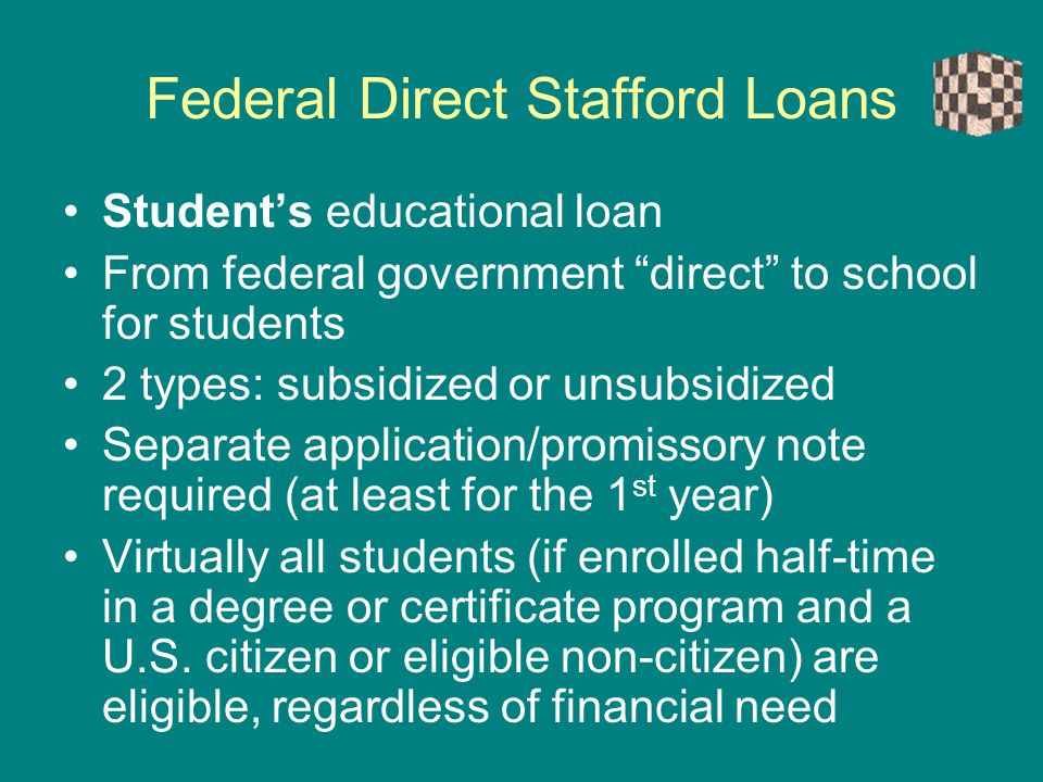 Federal Direct Stafford Loans