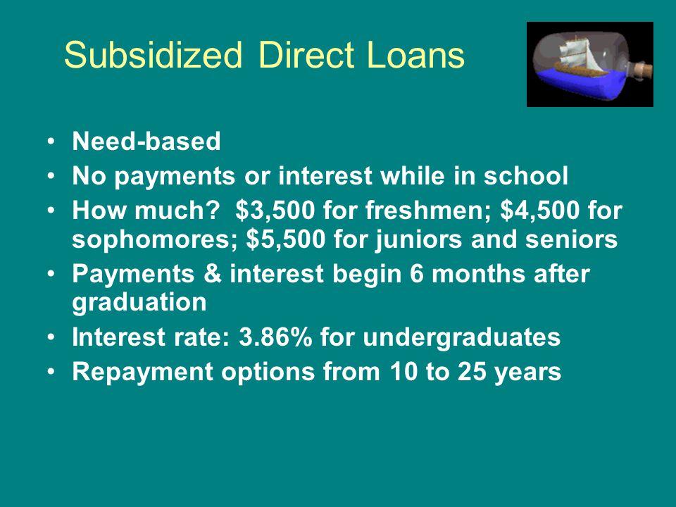 Subsidized Direct Loans