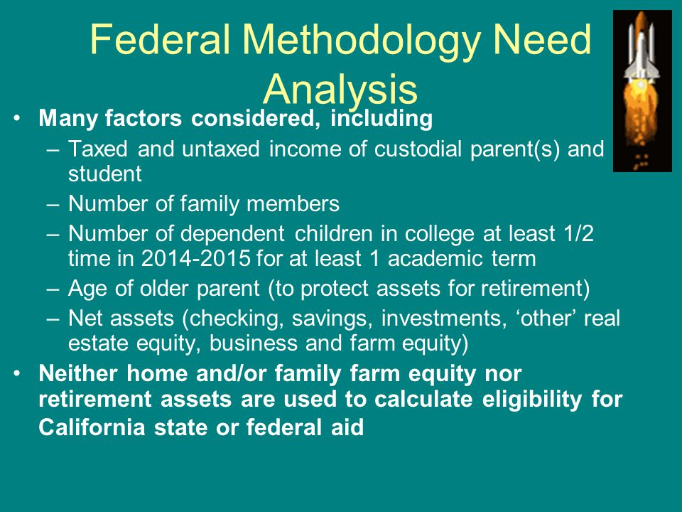 Federal Methodology Need Analysis