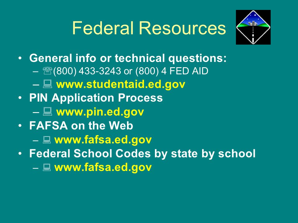 Federal Resources General info or technical questions: