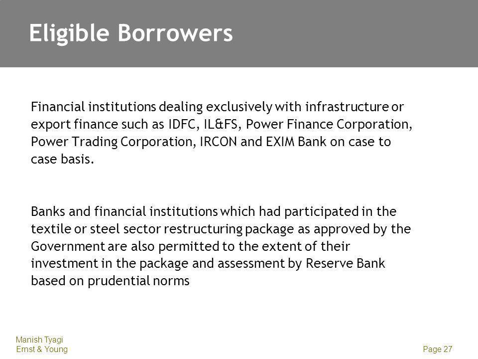 Eligible Borrowers