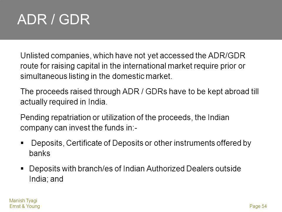 ADR / GDR Treasury bills and other monetary instruments with a maturity or unexpired maturity of one year or less.