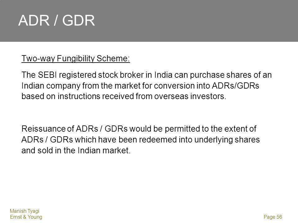 ADR / GDR Sponsored ADR/GDR issue