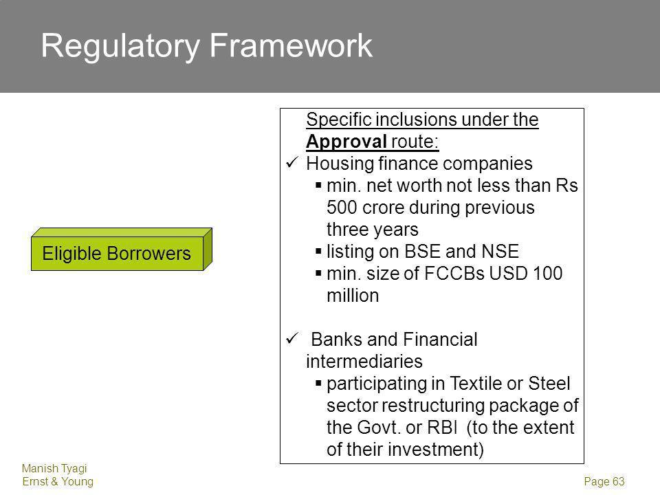 Regulatory Framework Date. Eligible Lenders. Foreign equity holder ( holding minimum 5% equity of borrower)