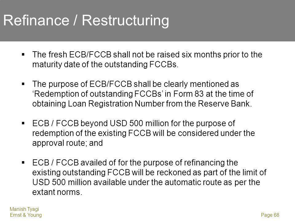 Refinance / Restructuring