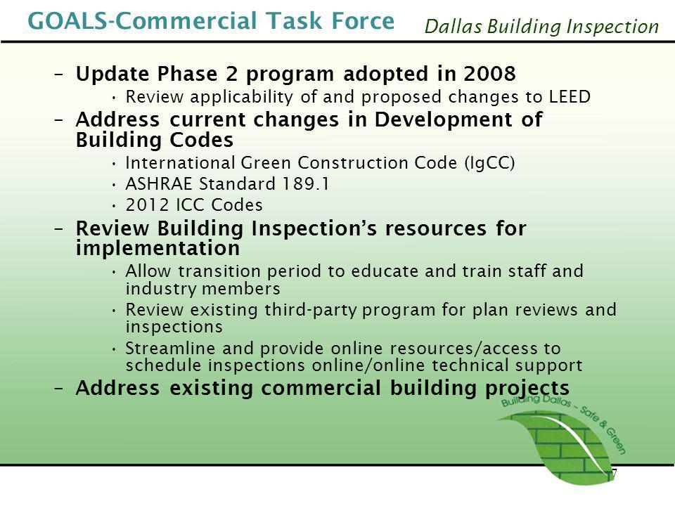 GOALS-Commercial Task Force