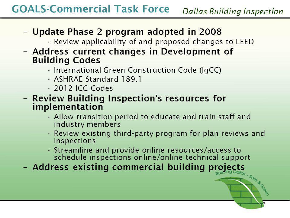 GOALS-Commercial Task Force