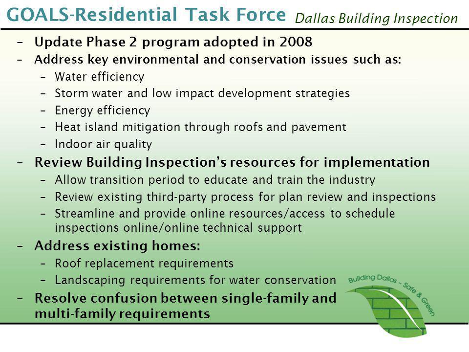GOALS-Residential Task Force