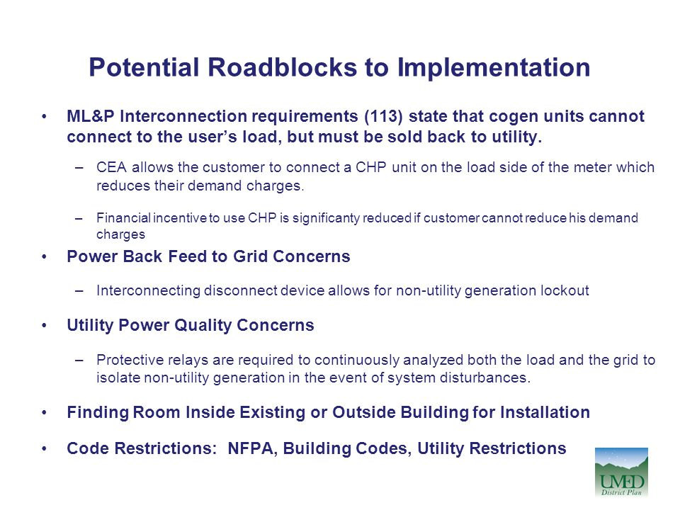 Potential Roadblocks to Implementation