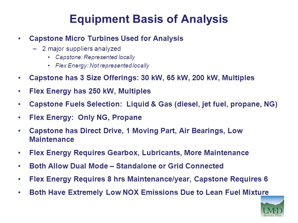 Equipment Basis of Analysis