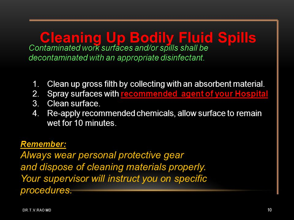 Cleaning Up Bodily Fluid Spills