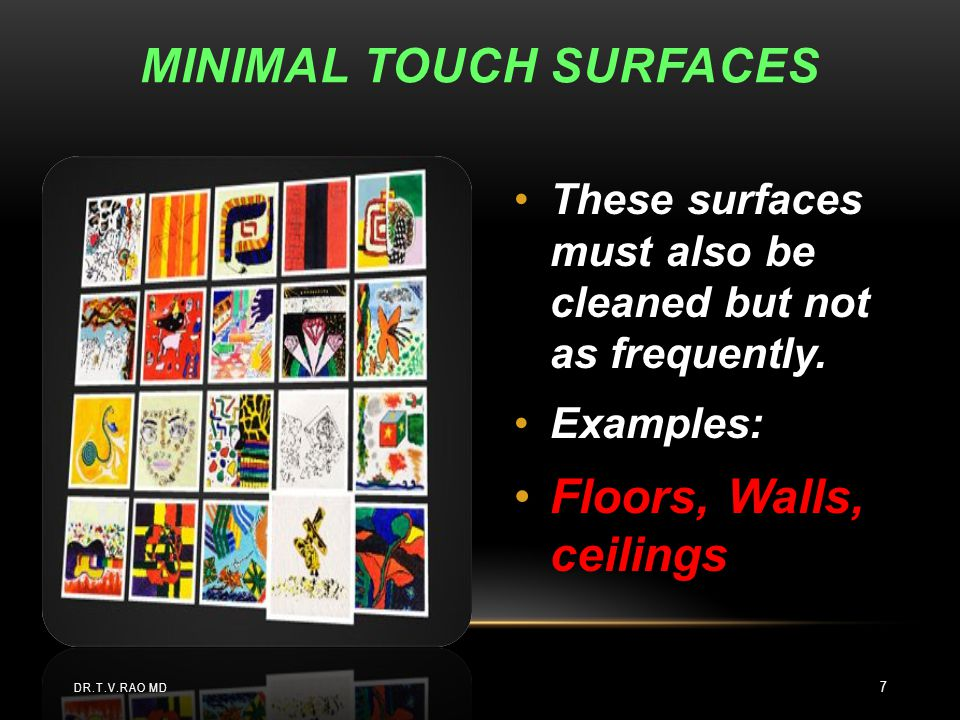 MINIMAL TOUCH Surfaces