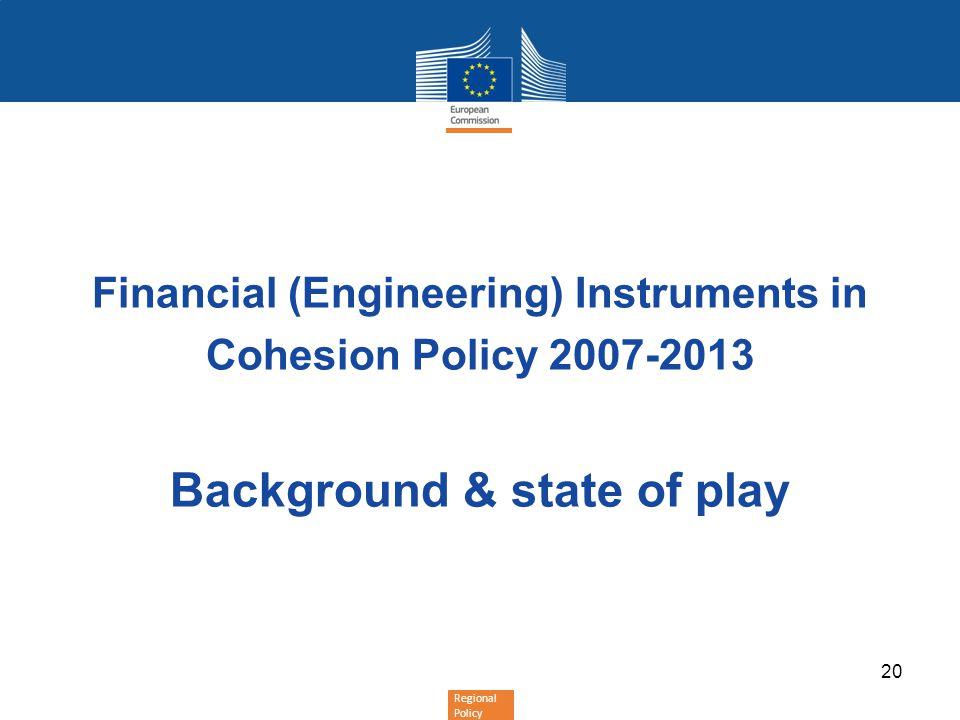 Financial (Engineering) Instruments in Background & state of play