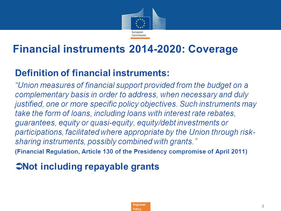 Financial instruments 2014-2020: Coverage