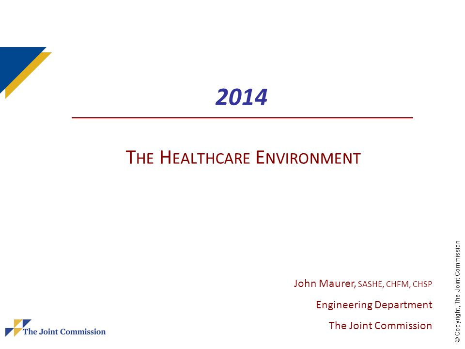 2014 The Healthcare Environment