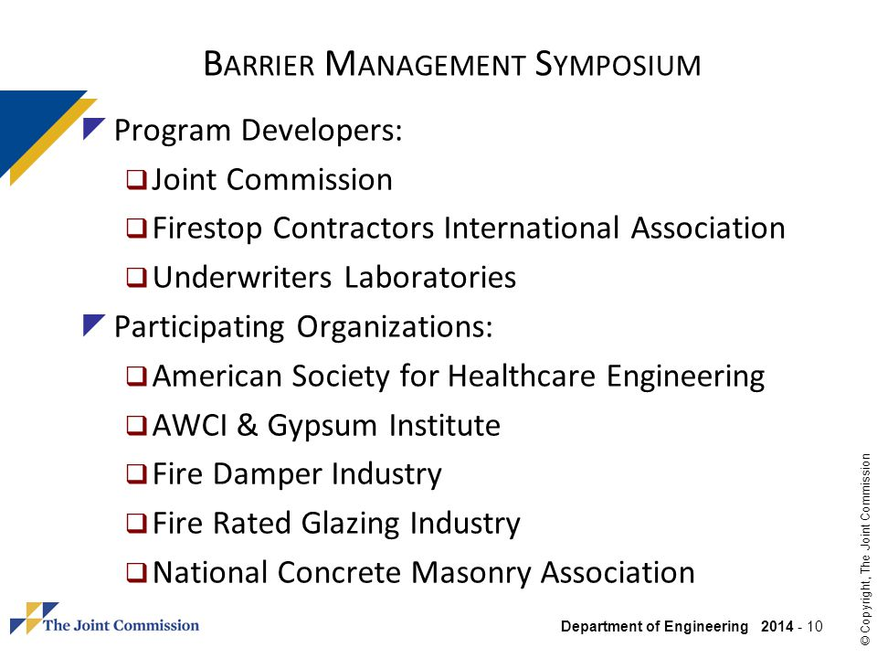 Barrier Management Symposium