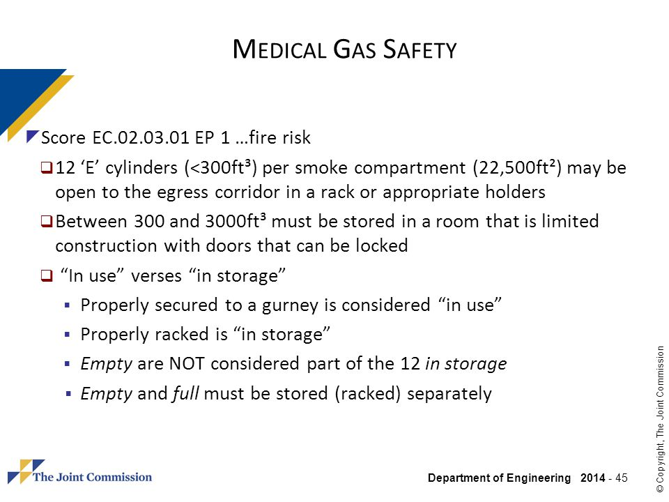Medical Gas Safety Score EC EP 1 …fire risk