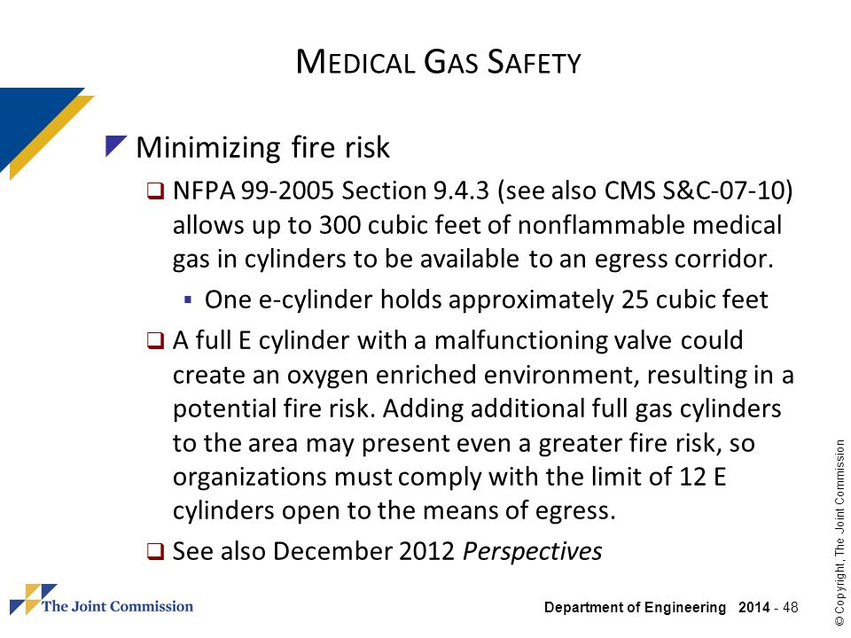 Medical Gas Safety Minimizing fire risk