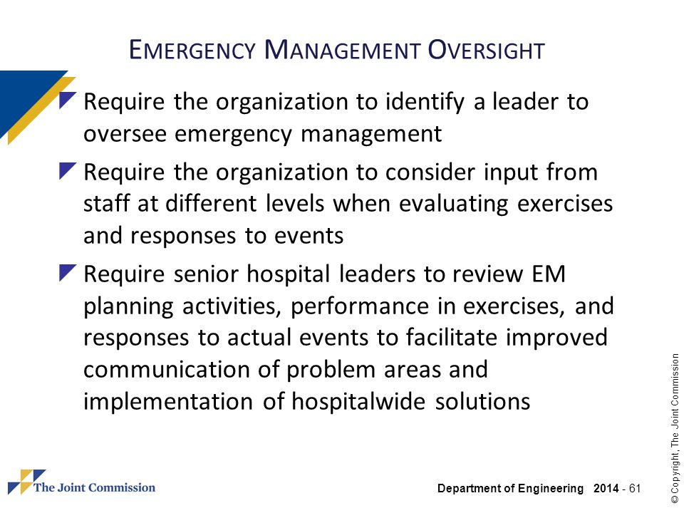 Emergency Management Oversight
