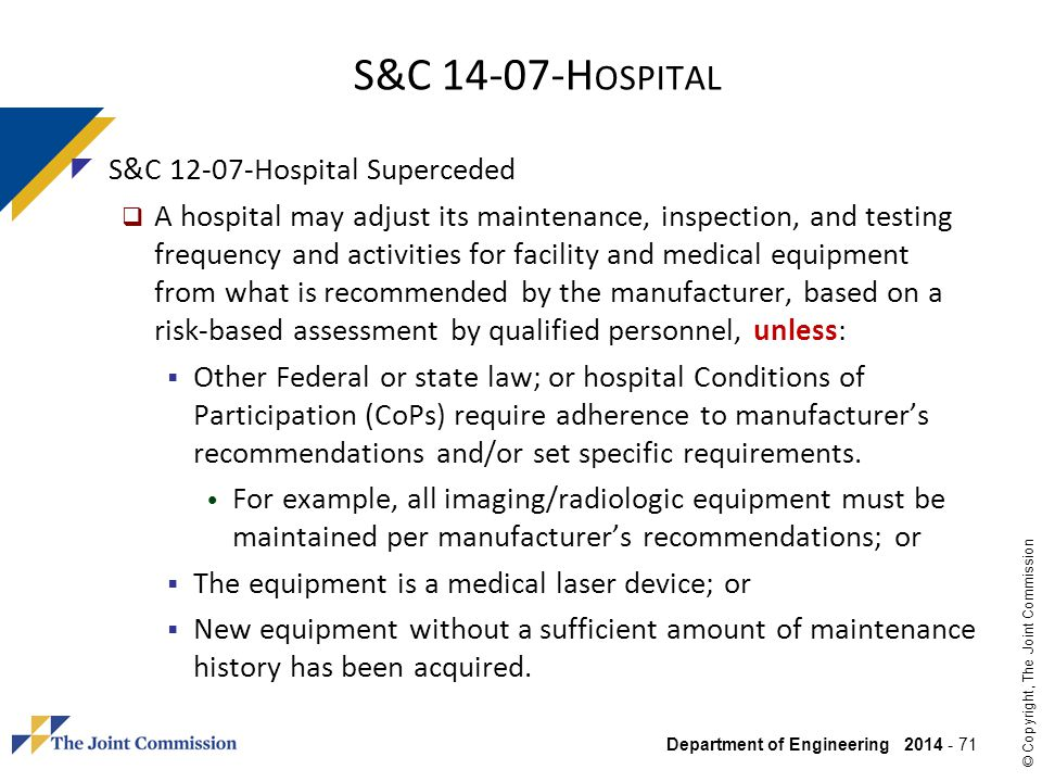 S&C Hospital S&C Hospital Superceded