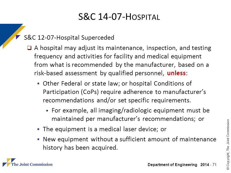 S&C 14-07-Hospital S&C 12-07-Hospital Superceded