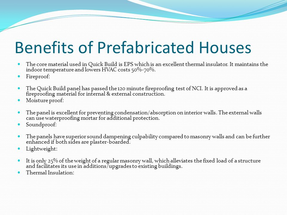 Benefits of Prefabricated Houses