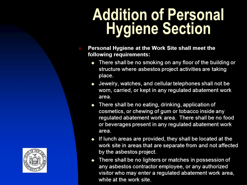 Addition of Personal Hygiene Section
