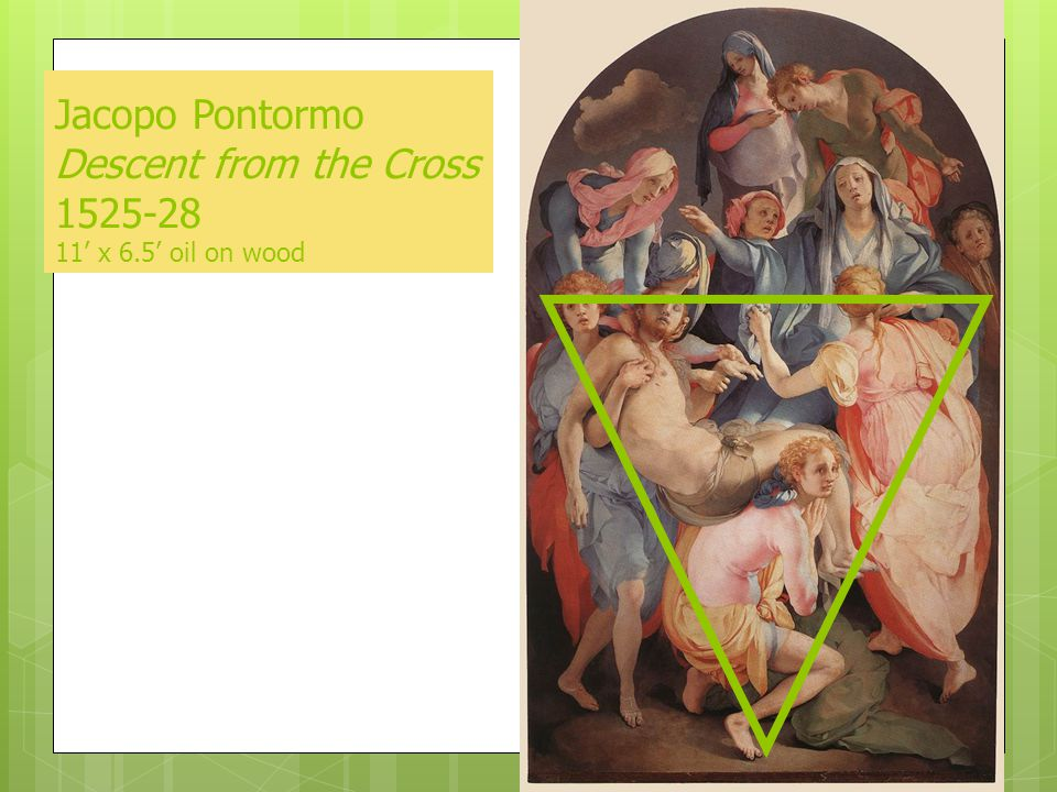 Jacopo Pontormo Descent from the Cross 1525-28 11' x 6.5' oil on wood