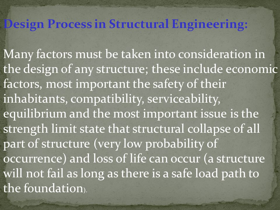 Design Process in Structural Engineering: