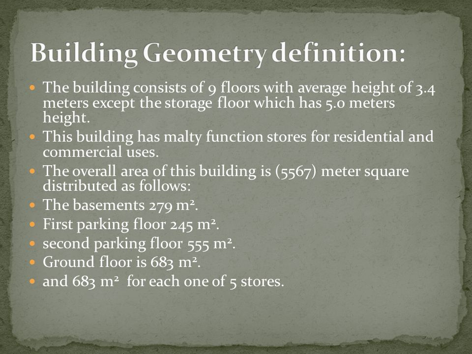 Building Geometry definition: