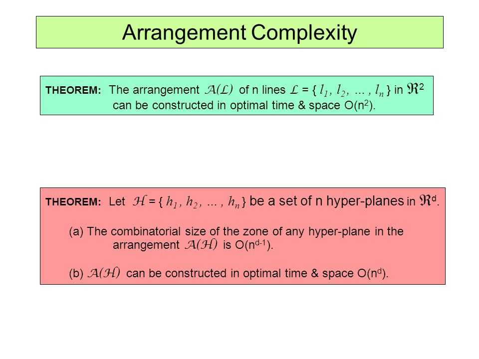 Arrangement Complexity