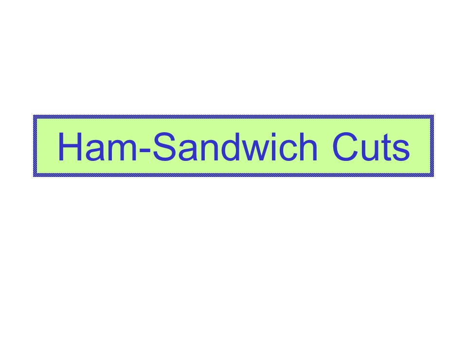Ham-Sandwich Cuts