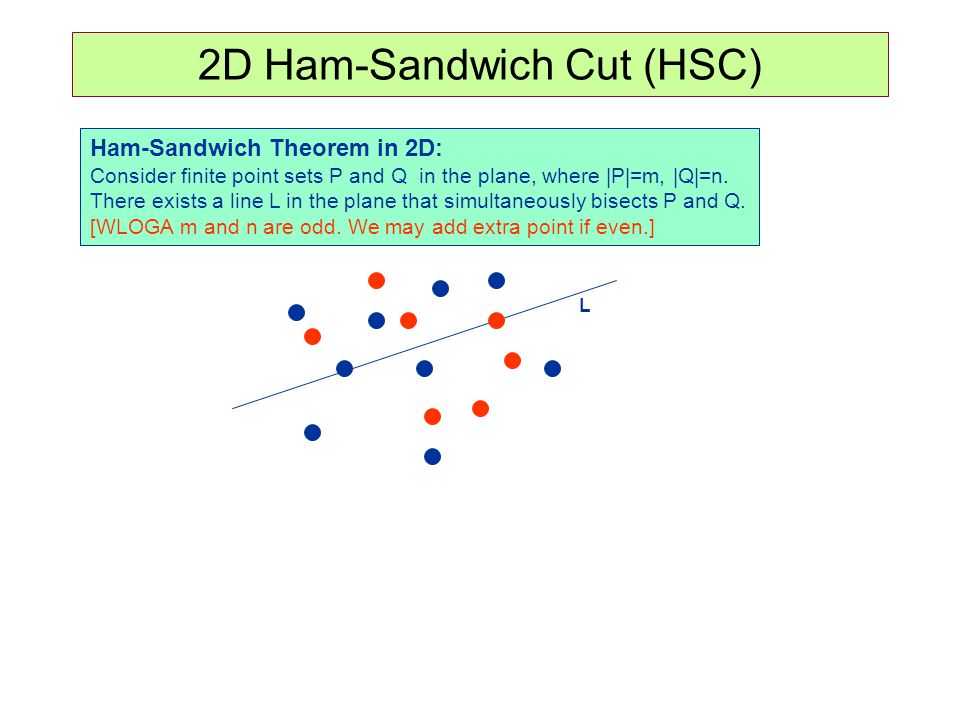 2D Ham-Sandwich Cut (HSC)