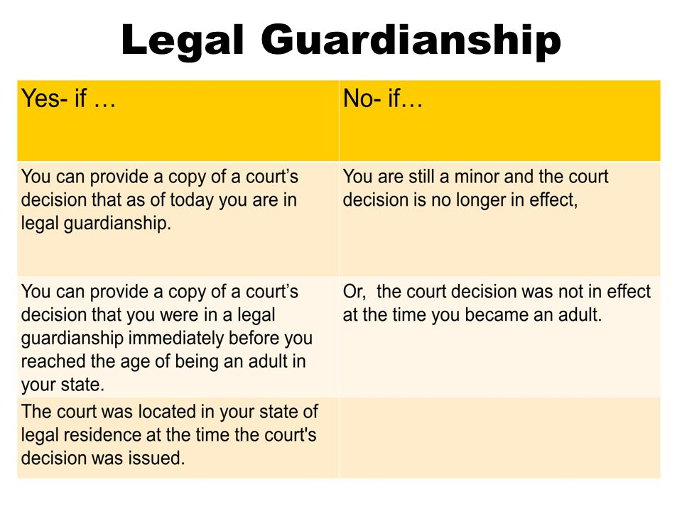 Legal Guardianship
