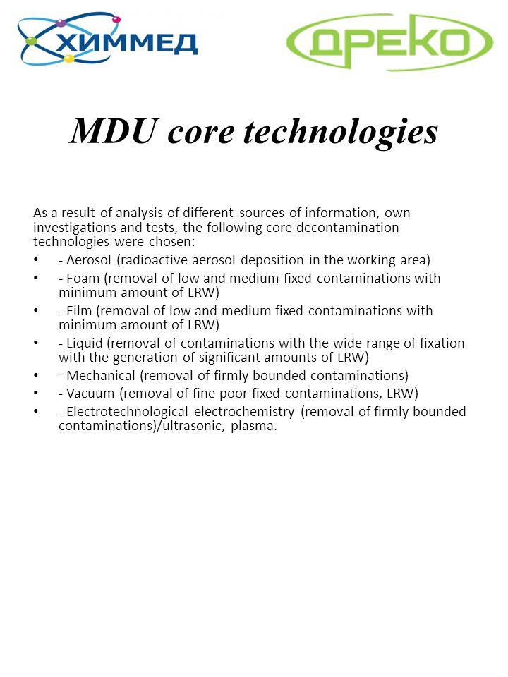 MDU core technologies